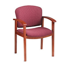HON 2111JBE62 2111 Invitation Series Wood Guest Chair, Henna Cherry/Wild Rose Fabric