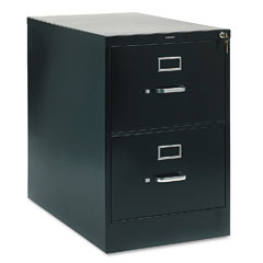 HON 212CPP 210 Series Two-Drawer, Full-Suspension File, Legal, 28-1/2D, Black
