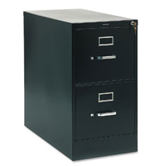 HON 212PP 210 Series Two-Drawer, Full-Suspension File, Letter, 28-1/2D, Black