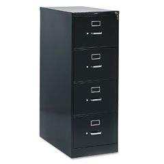 HON 214CPP 210 Series Four-Drawer, Full-Suspension File, Legal, 28-1/2D, Black