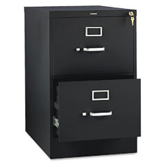 Hon - 310 series two-drawer, full-suspension file, legal, 26-1/2d, black, sold as 1 ea