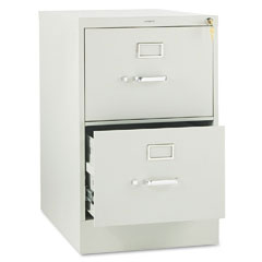HON 312CPQ 310 Series Two-Drawer, Full-Suspension File, Legal, 26-1/2D, Light Gray