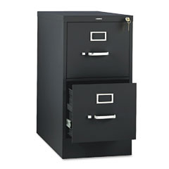 HON 312PP 310 Series Two-Drawer, Full-Suspension File, Letter, 26-1/2D, Black