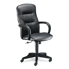 HON 3301SS11T Allure Executive High-Back Swivel/Tilt Chair, Black Leather