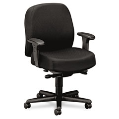 HON 3528NT10T 24-Hour Mid-Back Synchro-Tilt Task Chair, Black