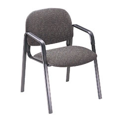 Hon - solutions seating leg base guest arm chair, gray, sold as 1 ea