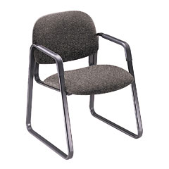 Hon - solutions seating sled base guest chair, gray, sold as 1 ea