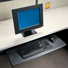 HON 4022P Slide-Away Keyboard Platform, Laminate, 21-1/2W X 10D X 1-1/8H, Black