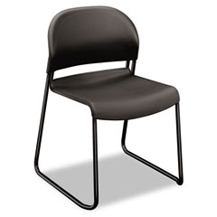HON HON403112T Gueststacker Chair, Charcoal with Black Finish Legs, 4/Carton