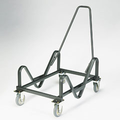 HON 4033T Gueststacker Cart, 21-3/8 X 35-1/2 X 37-7/8, Black
