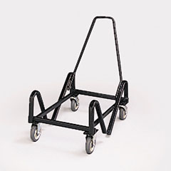 HON 4043T Olson Stacker Series Cart, 21-3/8 X 35-1/2 X 37, Black