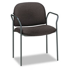 HON 4051AB10T Multipurpose Stacking Arm Chairs, Black, 2/Carton
