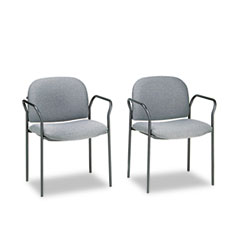 HON 4051AB12T Multipurpose Stacking Arm Chairs, Gray, 2/Carton