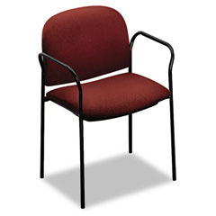 HON 4051AB62T Multipurpose Stacking Arm Chairs, Burgundy, 2/Carton