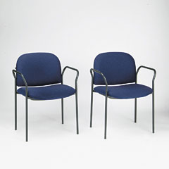 HON 4051AB90T Multipurpose Stacking Arm Chairs, Blue, 2/Carton