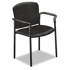 HON 4071NT10T Pagoda 4070 Series Stacking Arm Chairs, Black Tectonic Fabric, 2/Carton