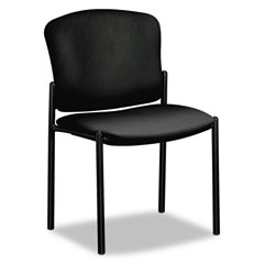 HON 4073EE11T Pagoda 4070 Series Stacking Chairs, Black Vinyl, 2/Carton