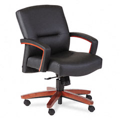 HON 5002JEE11 5000 Series Park Avenue Managerial Mid-Back Chair, Henna Cherry/Black Vinyl