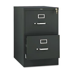 HON 512CPP 510 Series Two-Drawer, Full-Suspension File, Legal, 29H X25D, Black