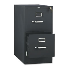 HON 512PP 510 Series Two-Drawer Full-Suspension File, Letter, 29H X25D, Black
