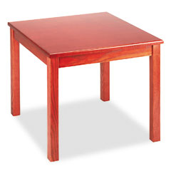 HON 5192JJ Reception Tables, Square, 24W X 24D X 20H, Henna Cherry