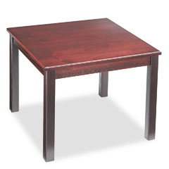 HON 5192NN Reception Tables, Square, 24W X 24D X 20H, Mahogany