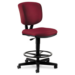 HON 5705GA62T Volt Series Adjustable Task Stool, Burgundy Fabric