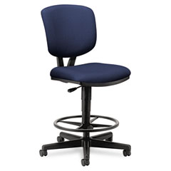 HON 5705GA90T Volt Series Adjustable Task Stool, Navy Fabric