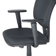 Hon - height-adjustable t-arms for volt series task chairs, black, sold as 1 pr