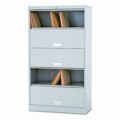 HON 625CLQ 600 Series 5-Shelf Steel Receding Door File, Legal 36W X 16-3/4D X 64-1/4H, Gray