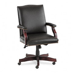 HON 6571NSL11 Jackson 6570 Series Executive High-Back Swivel/Tilt Chair, Black Leather