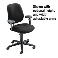 Hon - 7700 series swivel task chair, black, sold as 1 ea