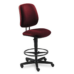 HON 7705AB62T 7700 Series Swivel Task Stool, Burgundy