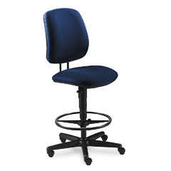 HON 7705AB90T 7700 Series Swivel Task Stool, Blue