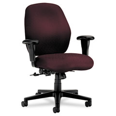 Hon - 7800 series mid-back task chair, tectonic wine, sold as 1 ea
