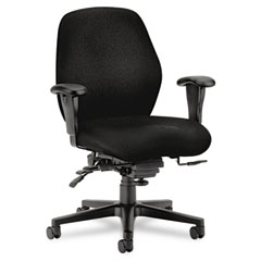 Hon - 7800 series high-performance mid-back task chair, tectonic black, sold as 1 ea