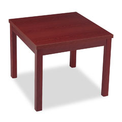 HON 80192NN Laminate Occasional Table, Square, 24W X 24D X 20H, Mahogany
