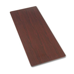 HON ESR3072TNN Rectangular Activity Table Top, 72W X 30D, Mahogany