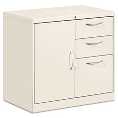 HON FC1830DBALQ Flagship File Center W/Bookcase & Box/File Pedestal, 30W X 18D X 28H, Light Gray