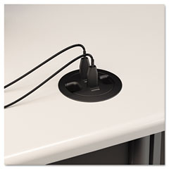 HON HONGRMTUSBP USB Grommet Hub, 4 Ports, Black