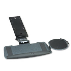 HON HKB700P Bravo Articulating Keyboard/Mouse Platform, Glide Track, 20-3/4W X 11D, Black