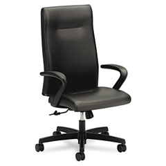 HON HONIEH1FHUSQ11T Ignition Series Executive High-Back Chair, Black Leather Upholstery