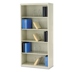 HON J625CNL 600 Series Jumbo Open File, 5-Shelf, Steel, Lgl, 36W X 16-3/4D X 75-7/8H, Putty