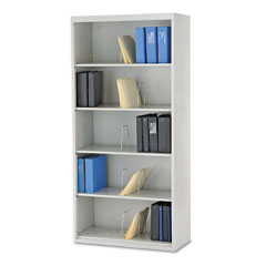 HON J625CNQ 600 Series Jumbo Open File, 5-Shelf, Steel, Legal, 36W X 16-3/4D X 75-7/8H, Gray