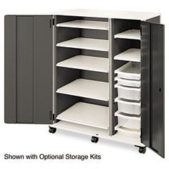 HON LSF5221DCT6S Smartlink Storage Cabinet W/Door, 52-3/4W X 24-1/4D X 61-3/4H, Charcoal/Platinum