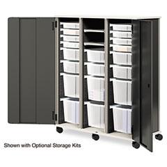 HON LSF523DCT6ST Smartlink Storage Cabinet W/Door, 52-3/4W X 24-1/4D X 61-3/4H, Charcoal/Platinum
