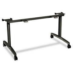 "HON HONMBFLIP24LCS Huddle Table Flip-Top Base 24"" Deep Tops, 51-5/8w x 26-1/2d x 28h, Charcoal"