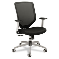 Hon - boda series high-back work chair, padded mesh seat, mesh back, black, sold as 1 ea