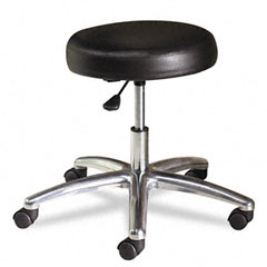 Hon - medical exam stool without back, 24-1/4 x 27-1/4 x 22, black, sold as 1 ea