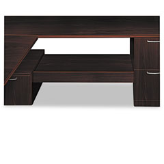 HON PSHELF1N Attune Under Credenza Storage With Drawer/Shelf, 54W X 15-13/16D X 16H, Mahogany